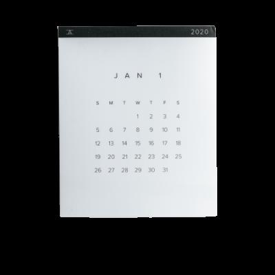 kalendář transparent
